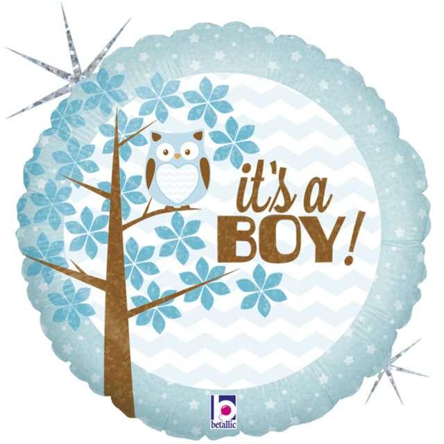 "Balon foliowy ""Sowa - Its a Boy"", GRABO, 18"" CIR"