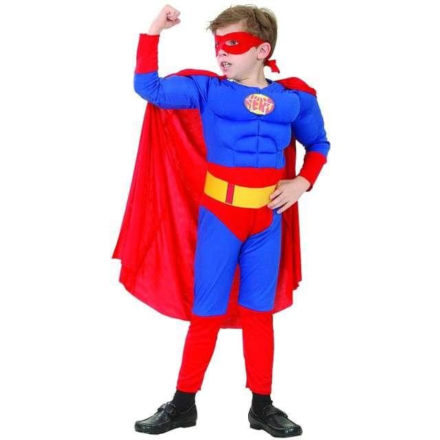 """Strój dla dzieci """"SuperMan z muskułami"""", GODAN, rozm. 120/130 cm"""