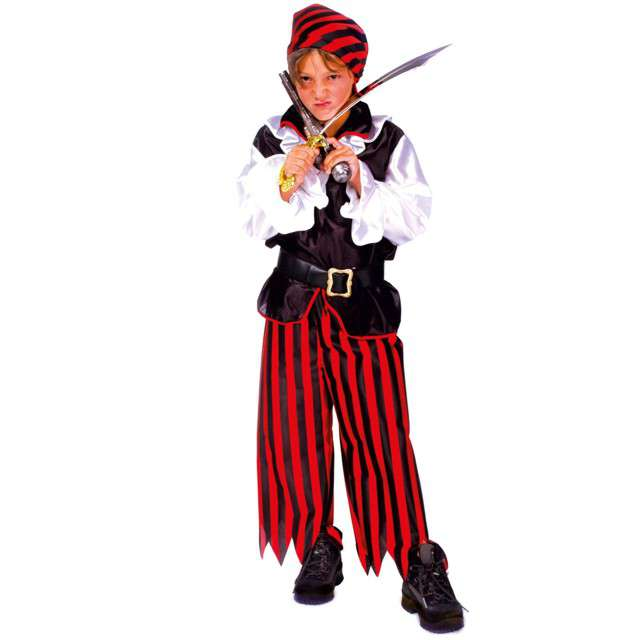 """Strój dla dzieci """"Pirat BlackHeart"""", FunnyFashion. rozm. 116 cm"""