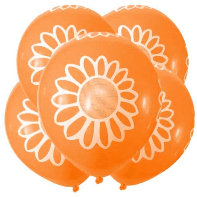 """Balony """"Stokrotka"""", 12"""", pomarańczowe, 5 szt"""