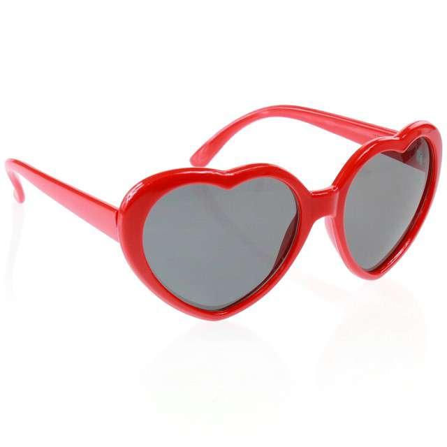 """Okulary party """"Serca"""", czerwone, GODAN"""