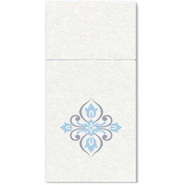 """Kieszonka na sztućce """"Royal Diamonds"""", niebieska, PAW, 40 cm, 16 szt"""