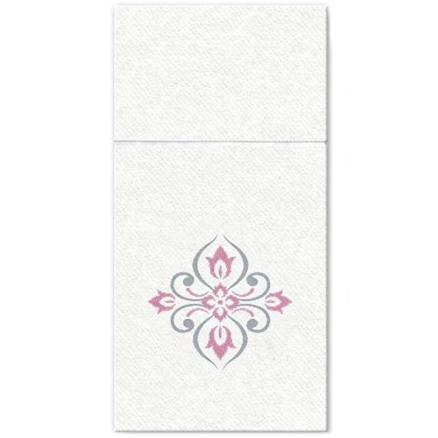 "Kieszonka na sztućce ""Royal Diamonds"", różowa, PAW, 40 cm, 16 szt"