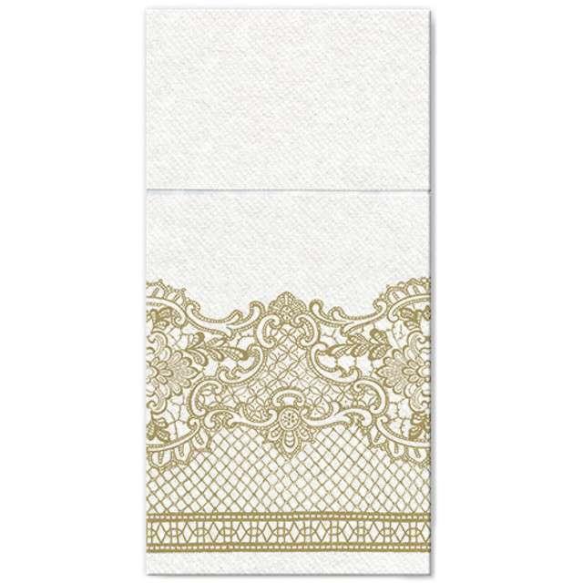 """Kieszonka na sztućce """"Royal Lace Gold"""", zlota, PAW, 40 cm, 25 szt"""
