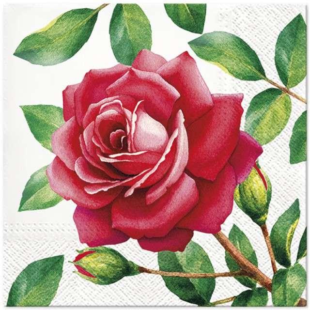"""Serwetki """"Róża"""", PAW, 33 cm, 20 szt"""
