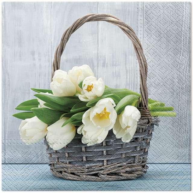 """Serwetki """"Tulipany"""", PAW, 33 cm, 20 szt"""