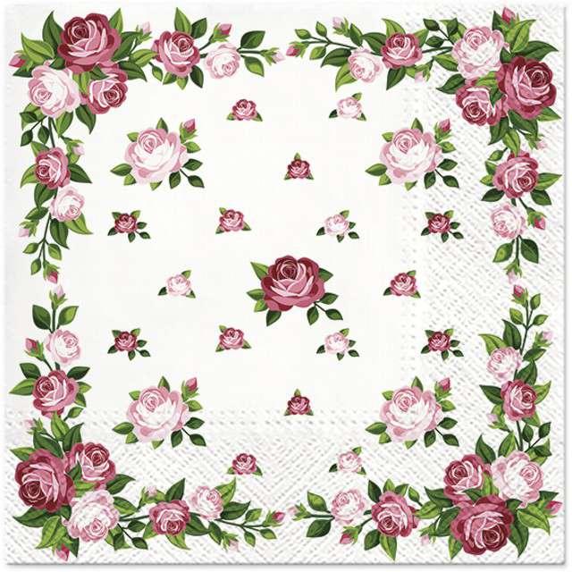 """Serwetki """"Róże"""", PAW, 33 cm, 20 szt"""