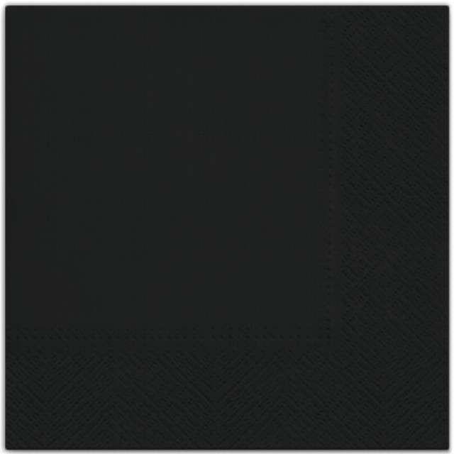 """Serwetki """"Classic"""", czarne, PAW, 33 cm, 20 szt"""