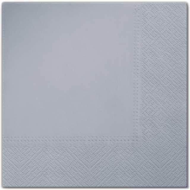 """Serwetki """"Classic"""", srebrne, PAW, 33 cm, 20 szt"""