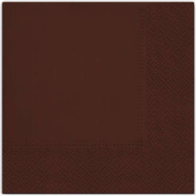 """Serwetki """"Classic"""", czekoladowe, PAW, 33 cm, 20 szt"""