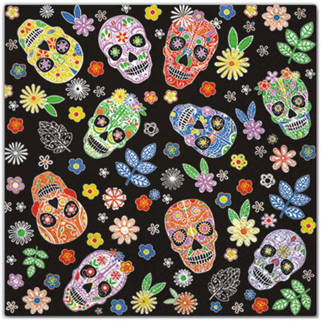 "Serwetki ""Day of the Dead"", PAW, 33 cm, 20 szt"