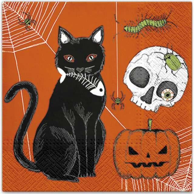 "Serwetki ""Kot - Halloween"", PAW, 33 cm, 20 szt"