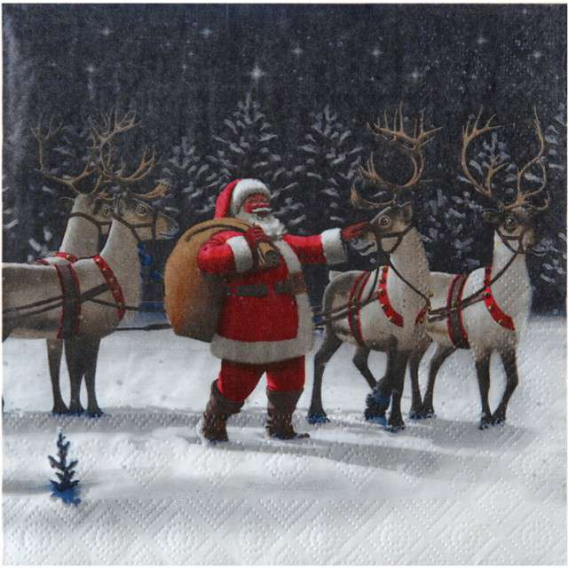 """Serwetki """"Święty Mikołaj"""", SANTEX, 33 cm, 20 szt"""