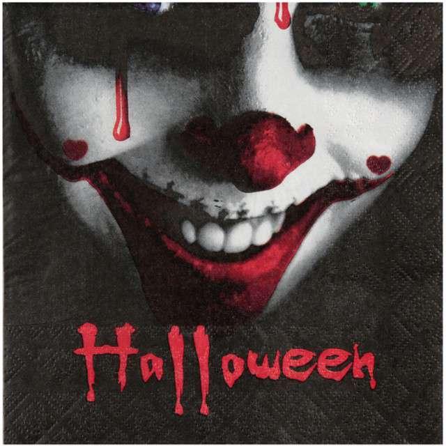 """Serwetki """"Bloody Halloween"""", SANTEX, 33 cm, 20 szt"""