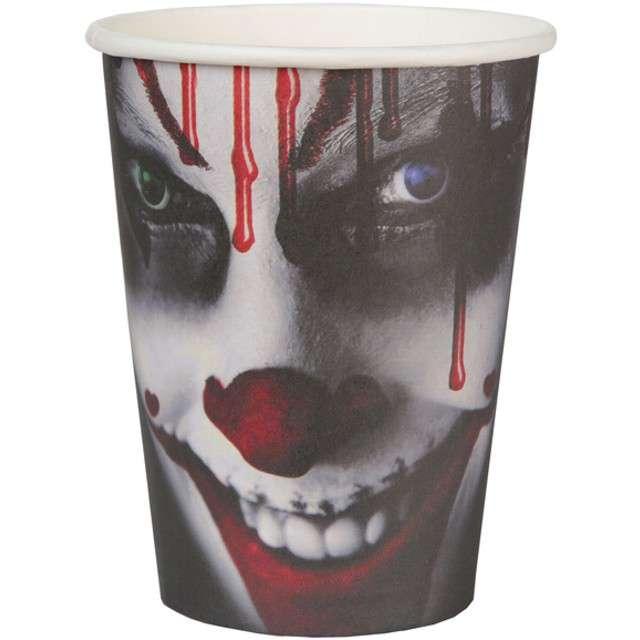 "Kubeczki papierowe ""Bloody Halloween"", SANTEX, 250 ml, 10 szt"