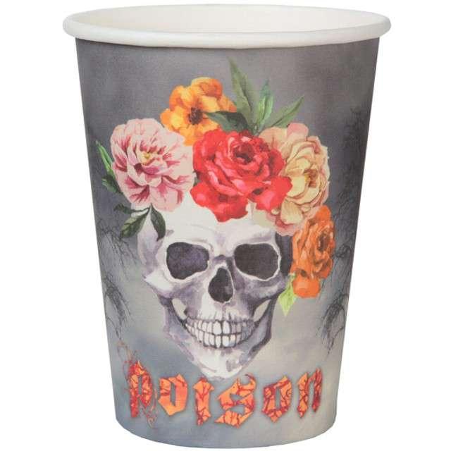 "Kubeczki papierowe ""Graveyard - Czaszka Day of The Dead"", SANTEX, 250 ml, 10 szt"