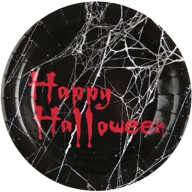 "Talerzyki ""Bloody Halloween"", SANTEX, 23 cm, 10 szt"