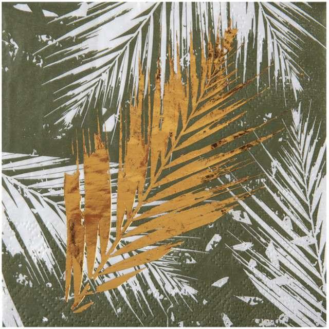 """Serwetki """"Świąteczna Palma"""", SANTEX, 25 cm, 20 szt"""