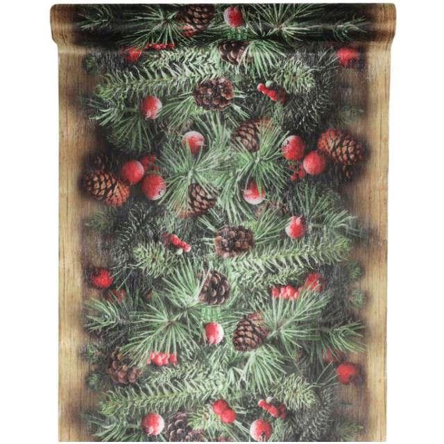 "Bieżnik ""Świąteczna Girlanda"", SANTEX, 500 x 30 cm"