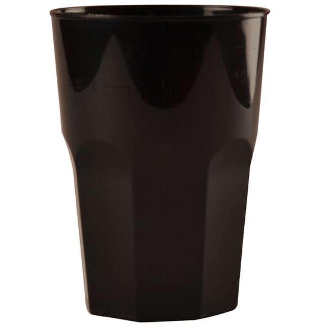 """Szklanki jednorazowe """"Drink Maxi"""", czarne, GoldPlast, 420 ml, 20 szt"""