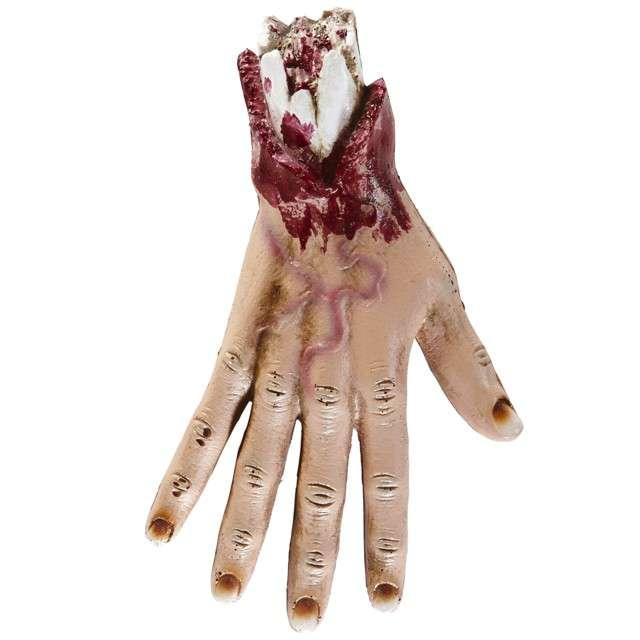 """Dekoracja """"Odcięta dłoń z kością"""", WIDMANN, 25 cm"""