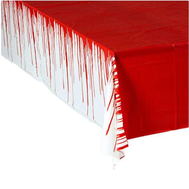 """Obrus foliowy """"Krew"""", WIDMANN, 275x137 cm"""