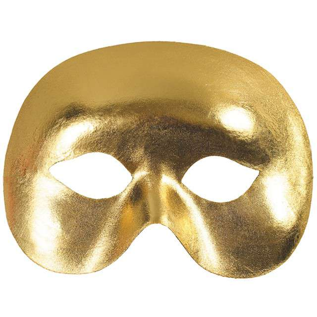 """Maska karnawałowa, złota, """"Nieznajoma"""""""
