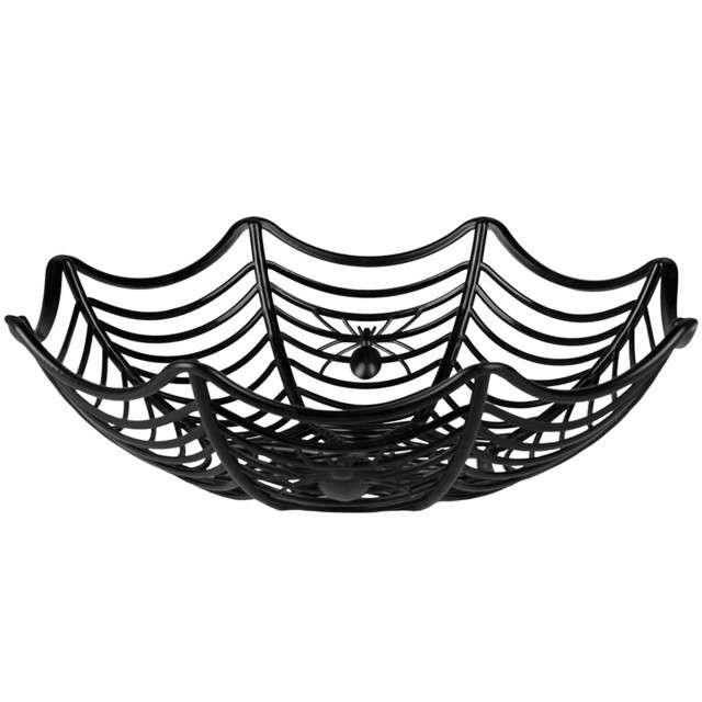 """Miska """"Pajęczyna - Halloween"""", czarna, Boland, 27 cm"""