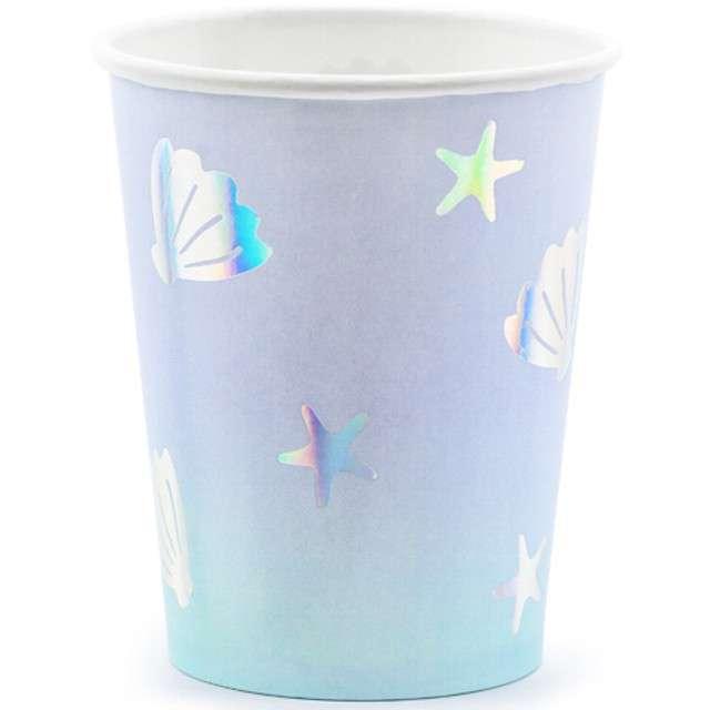 """Kubeczki papierowe """"Narwal"""", PartyDeco, 220 ml, 6 szt"""