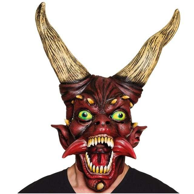 """Maska """"Diabeł z Rogami"""", lateksowa, BOLAND"""