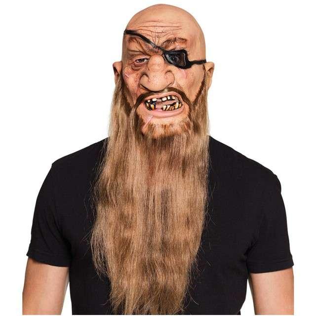 """Maska """"Pirat z Włosami"""", lateksowe, BOLAND"""