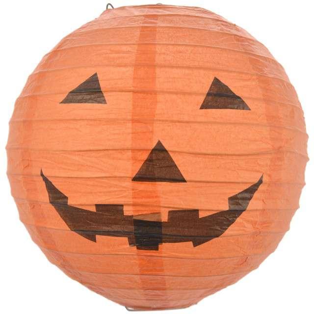 """Lampion papierowy """"Dynia"""", pomarańczowy, ARPEX, 20 cm"""