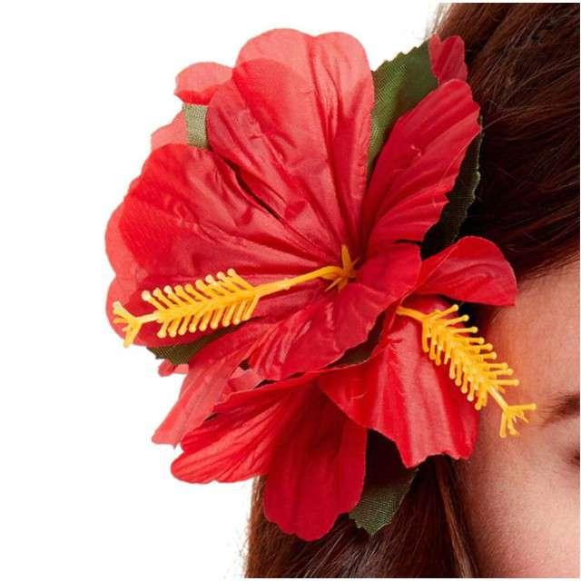 """Spinka do włosów """"Kwiaty Hibiskus"""", czerwony, SMIFFYS"""