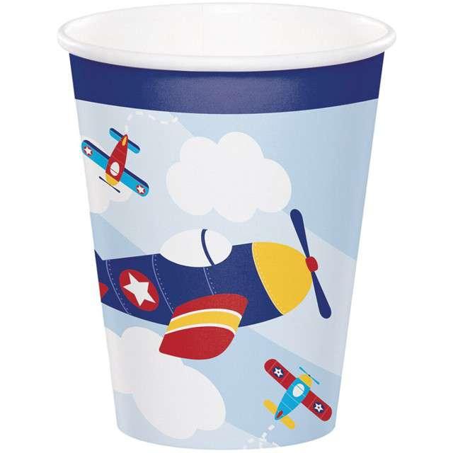 "Kubeczki papierowe ""Samolot - Lil Flyer Airplane"", CreativeConverting, 270 ml, 8 szt"