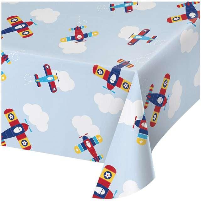 "Obrus foliowy ""Samolot - Lil Flyer Airplane"", CreativeConverting, 259x137 cm"
