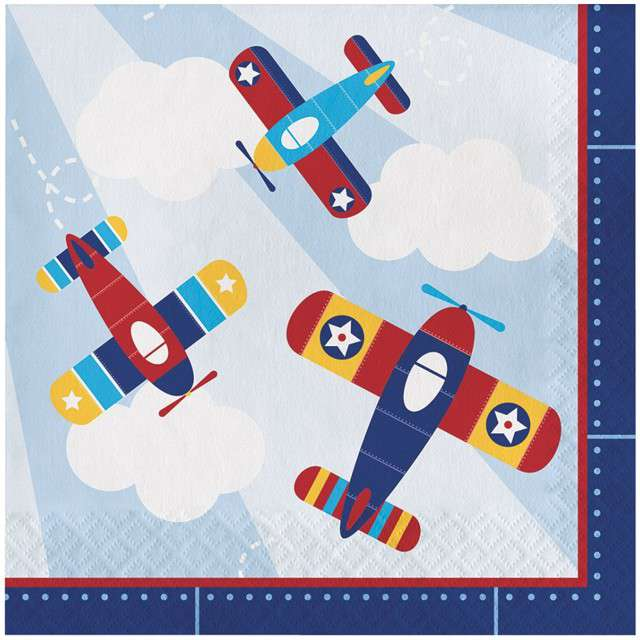 "Serwetki ""Samolot - Lil Flyer Airplane"", CreativeConverting, 33 cm, 16 szt"