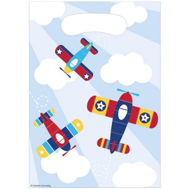 "Torebki foliowe ""Lil Airplane"", CreativeConverting, 8 szt"