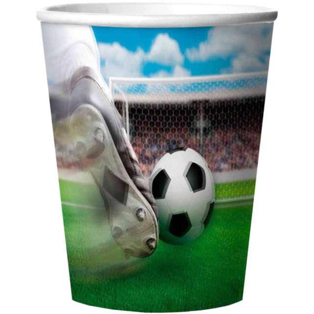 """Kubeczki papierowe """"Piłka Nożna 3D"""", FOLAT, 250 ml, 4 szt"""