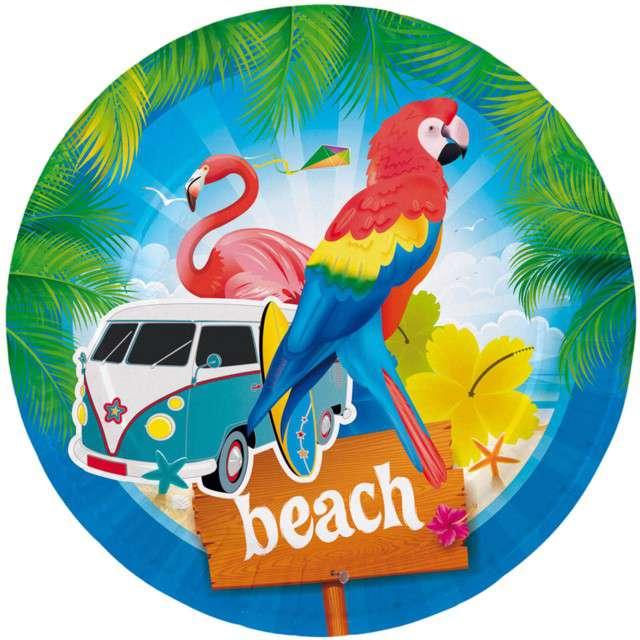 """Talerzyki papierowe """"Miami Summer"""", FOLAT, 23 cm, 8 szt"""
