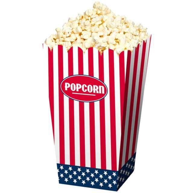 """Pudełka na popcorn """"USA Party"""", mix, Folat, 4 szt"""