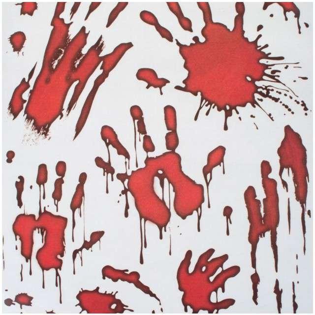 """Dekoracja na okno """"Krwawe Ręce"""", Funny Fashion, 15 szt"""