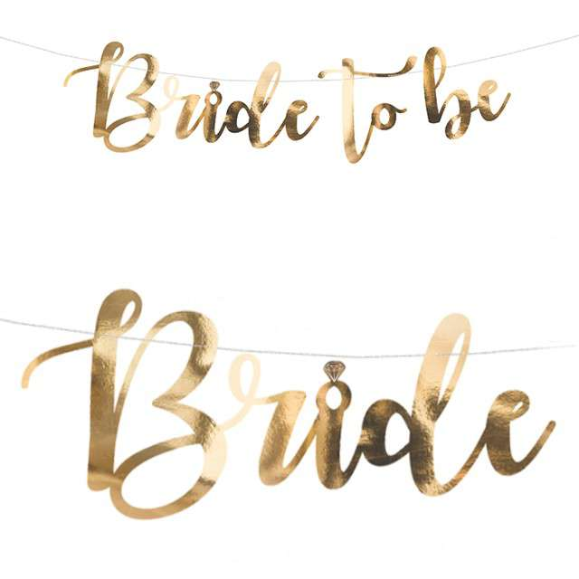 "Baner ""Bride to be"", PartyDeco, 80 cm"