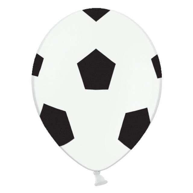 """Balony """"Piłka Nożna"""", białe, STRONG, 12"""", 50 szt"""