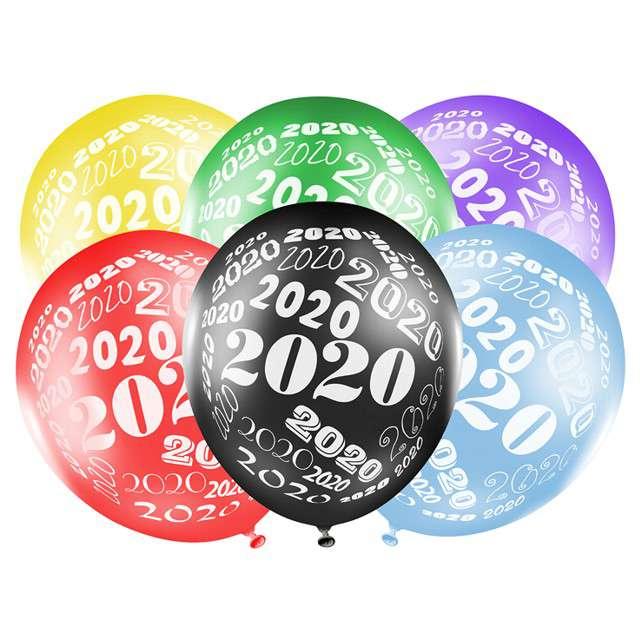 """Balony """"Sylwester 2020"""", mix, STRONG, 12"""", 50 szt"""