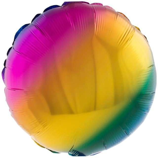 "Balon foliowy ""Koło - Gradient"", Funny Fashion, 18"" RND"