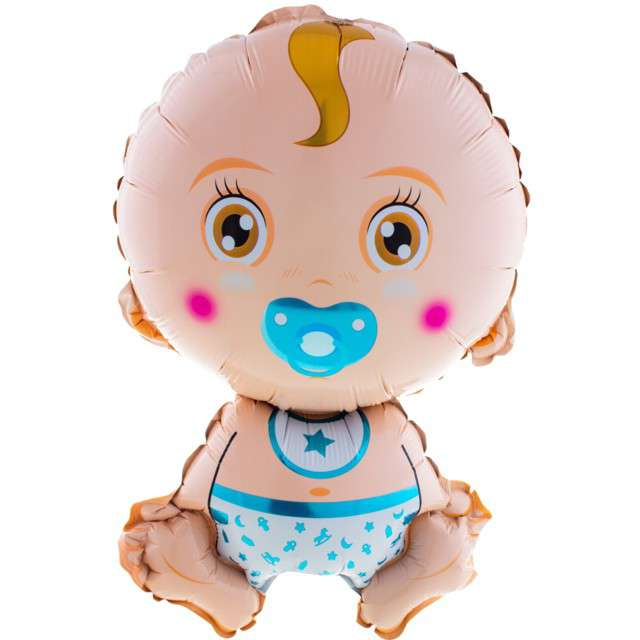 "Balon foliowy ""Baby Shower - Chłopiec"", Funny Fashion, 27"" SHP"