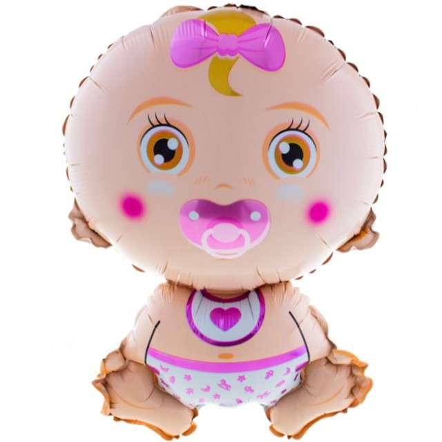 """Balon foliowy """"Baby Shower - Dziewczynka"""", Funny Fashion, 27"""" SHP"""