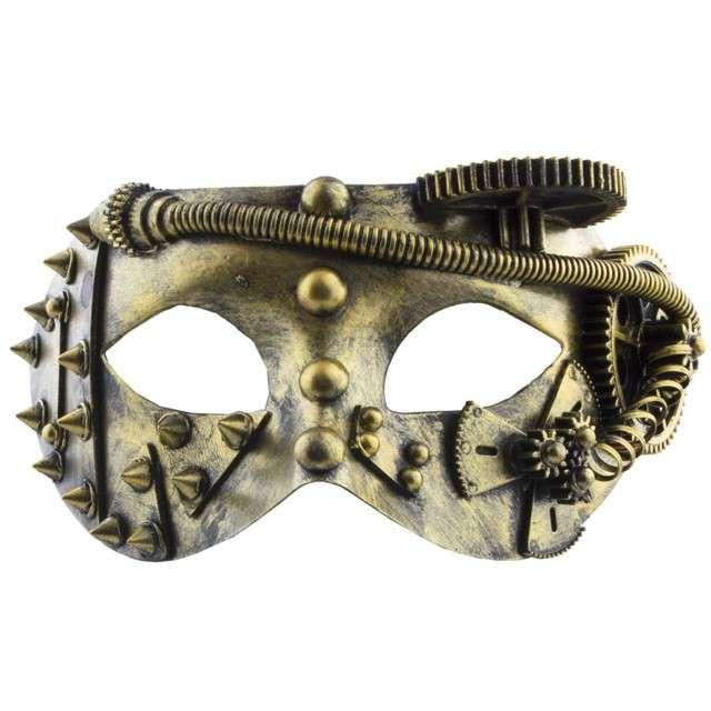 "Maska ""Steampunk"", złota, FunnyFashion"
