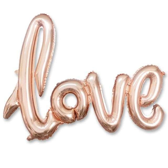 """Balon foliowy """"Love"""", różowo-złoty, DekoracjePolska, 21"""" SHP"""