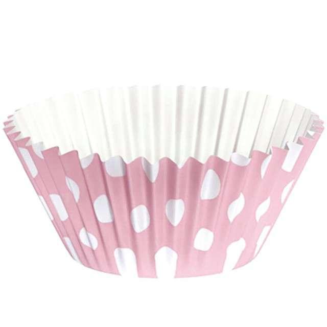 _xx_CUP CAKE ROSA TOPOS BLANCOS 25 UNIDADES
